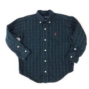 Ralph Lauren plaid green blue button-down shirt 4